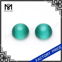 Decoration Green Glass Bead Wholesale 8MM Cat Eye Cabochon