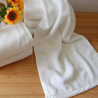 2016 Fashion promotion factory price wholesale pure 5 star hotel white face towel