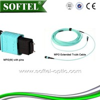 MPO trunk cable,mpo fiber optic patch cord/mpo extended trunk cable
