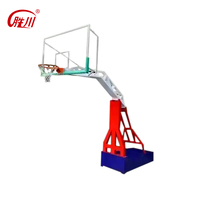 High quality out door portable basketball poles stand set