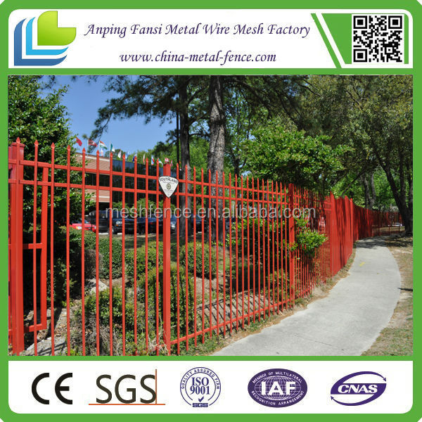 custome high security ornamental wrought iron fence designs