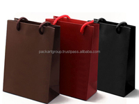 Luxury custom logo Paper shopping bag in black, brown, red color