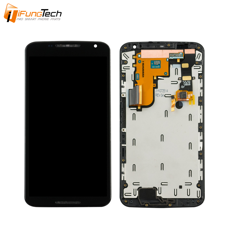 "5.96"" lcd screen for moto nexus 6 lcd display with touch digitizer assembly with frame available"