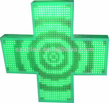 LED pharmacy cross P10 pure green color