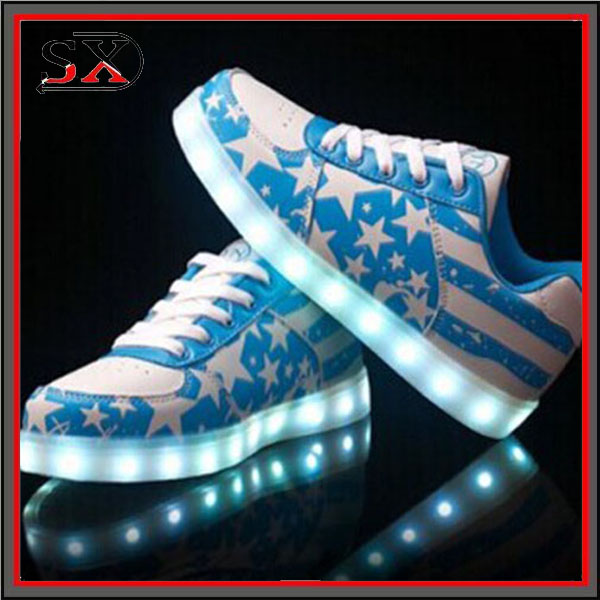 2016 hot Seller High Top USB Rechargeable Led Shoes Flashing Sneakers Factory good price