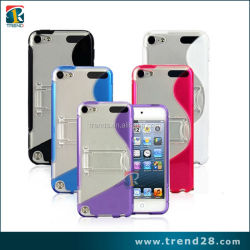 alibaba express protective mobile phone kickstand case cover for ipod touch 5
