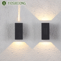 Wholesale Aluminum top quality IP65 modern outdoor up and down wall light fixture for garden