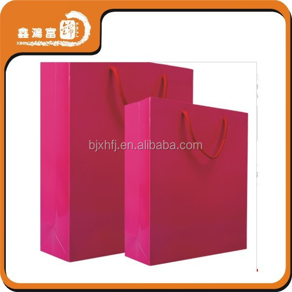 Custom Coated Art Paper Bag with Handle