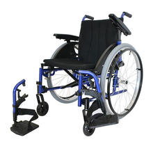 IS, Folding Self-propelled Sport Manual Wheelchair in Ultra Lightweight Aluminum with Adjustable Seat and Armrest & Removable Le