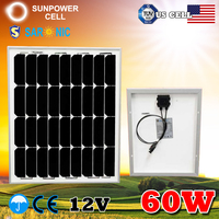 60W 60Watt 12V MONO Low Price Mini Solar Panel For Camping