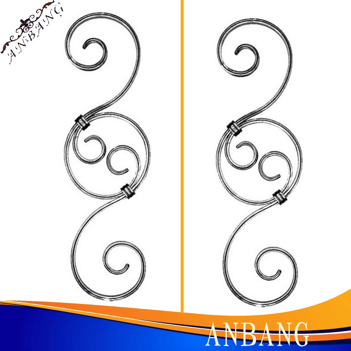 Decorative Forged Wrought Iron Scroll Panel 5147