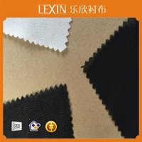 Polyester warp knit interlining PA/PES double dot