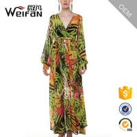 Fashion Women Dresses For Muslim Ladies Long Sleeve Kaftan Evening Maxi Dress