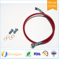 Professional manufacturer directly sales ptfe braided hose motorcycle brake clutch oil hose