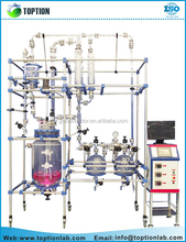 Glass Reactor system Pilot Plant 50L 100L 150L 200L Cylindrical Double Layer Glass Reactor
