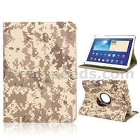 Cool Camouflage Pttern 360 Rotatable Flip Foldable Stand Cloth Texture Case for Samsung Galaxy Tab 3 GT-P5200 with an El