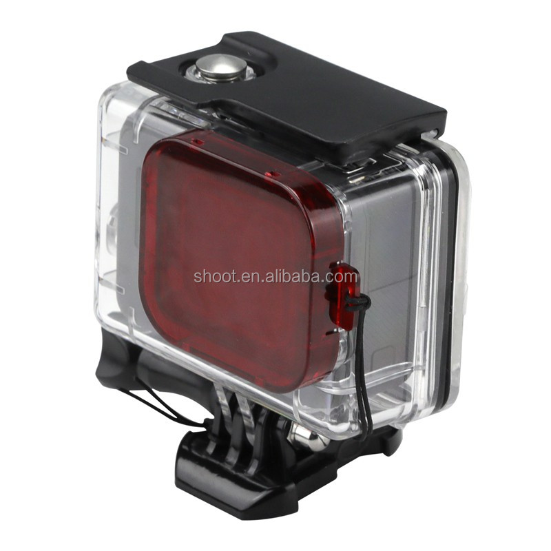 60M Red Filter for GoPro Hero 5 Waterproof Housing Lens, Third Party and Original Case Accessories