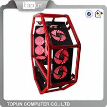 Wholesale spacecraft cool design water cooled computer cases cheap unique gaming pc case with custom logo