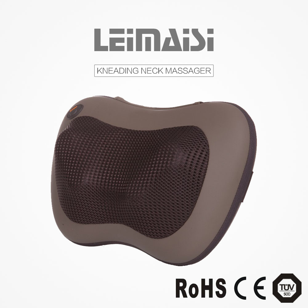 TUV Ruian LEIMAISI PU OEM office shiatsu acupuncture neck massage pillow