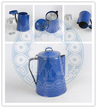 Enamel Coffee pot Camping ware Camping set