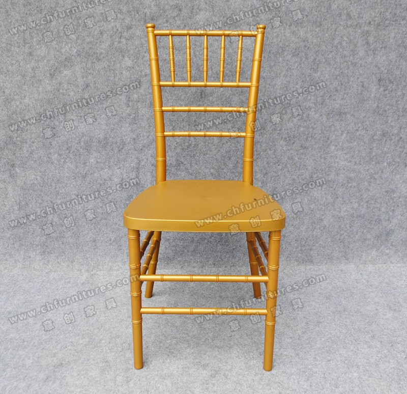 YC-A21-78 white cushion gold color PP resin Tiffany chiavari chair
