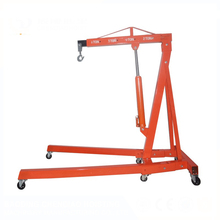 Portable Small Lift Construction Floor Crane Hydraulic 1 2 3 Ton Foldable Shop Crane engine crane sale