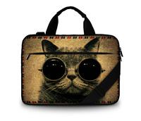 Customizable canvas laptop shoulder bag case 13 13.3 15 15.6 17 17.3 inch support DIY picture for Macbook pro/ acer/ lenovo