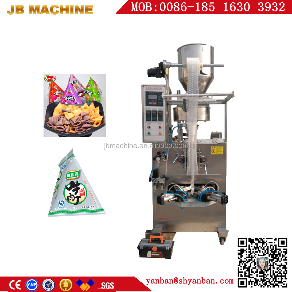 Factory Price 5g 60g 100g Automatic Bugles/Milk Tablets/Beef Grain Triangle Bag Granule Packing Machine with CE