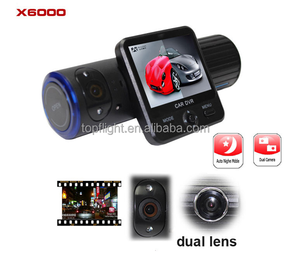 "2.0"" Dual Camera 1080P HD Car Driving Video Recorder DVR/G-sensor /GPS TIG-X6000"