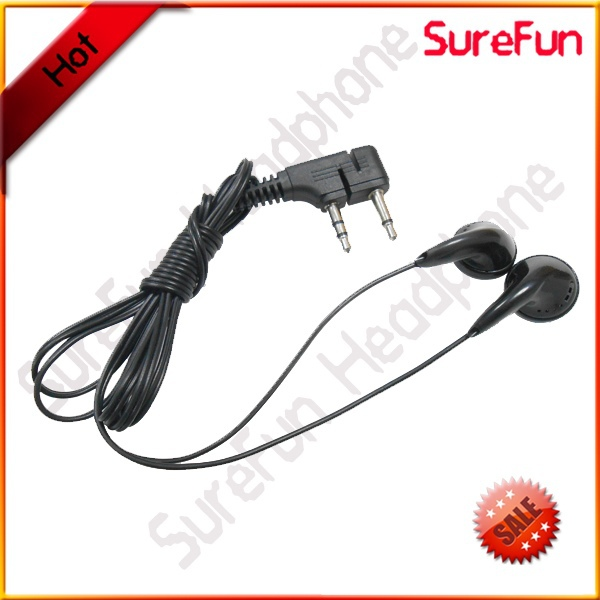 Z double plug airline earphone for Russian Boeing plane