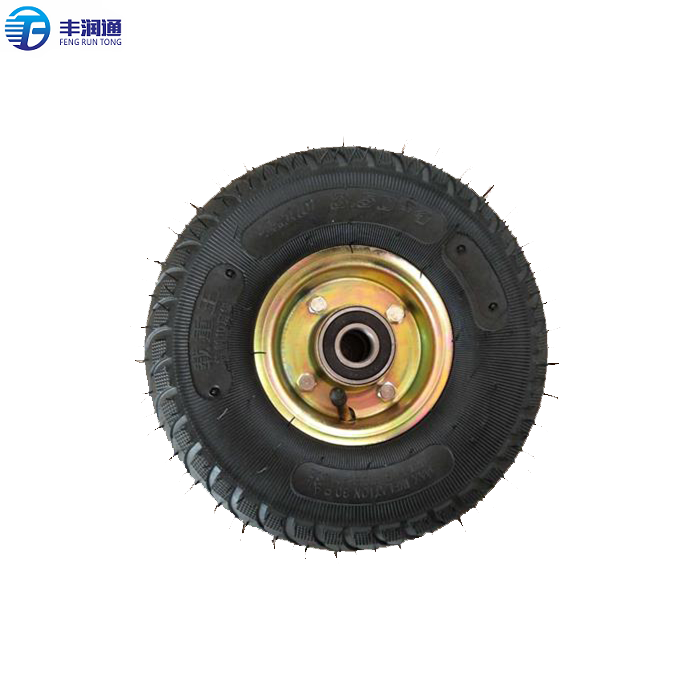 High Quality Polyurethane Air Free Small Rubber <strong>Wheel</strong> With Bearings 350-4
