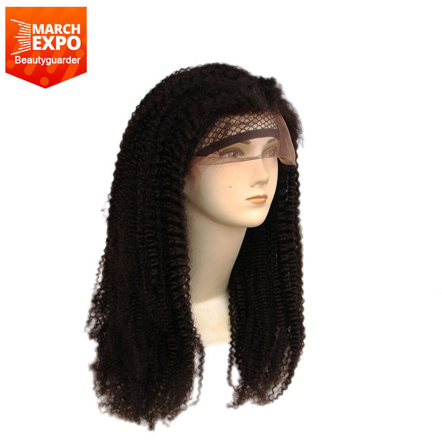 Fashion style natural color curly Brazilian hair wig