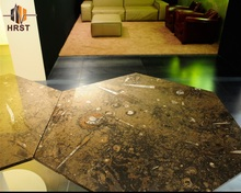 Natural stone fossil black stone countertop