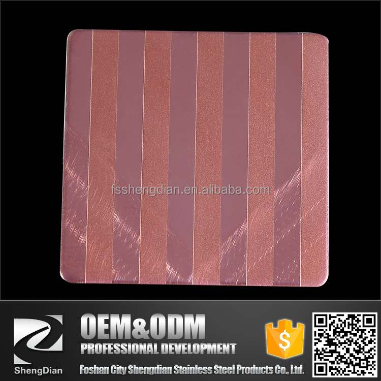 High Quality Color Decorative 304 304L 316 cold rolled Etching Stainless Steel Sheet Price