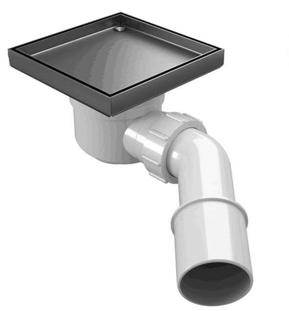 <strong>1200</strong> <strong>x</strong> 900 <strong>x</strong> 20mm Square Drain Tray Center Waste drain