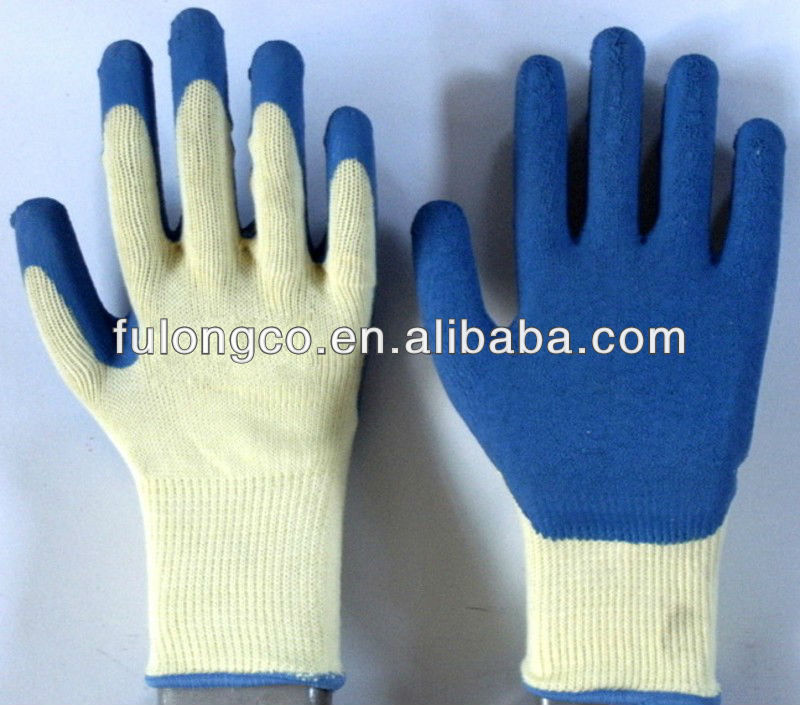 10 gaugecotton working gloves latex coated working gloves
