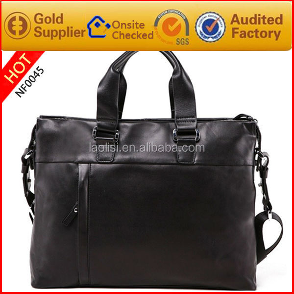 Wholesale genuine leather decent gentlement bags hot in mexico suit handbags with shoulder strap