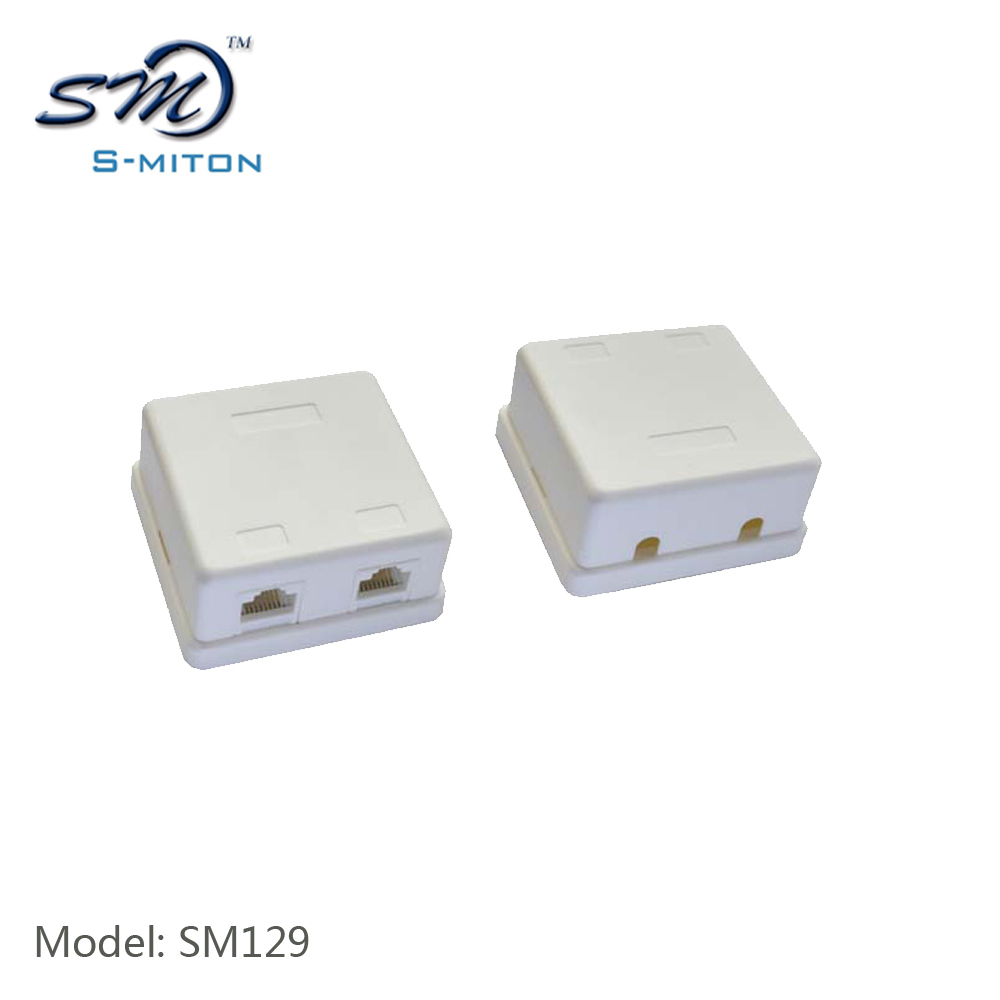 White color rj45 2 port cat5 terminal block from S-miton