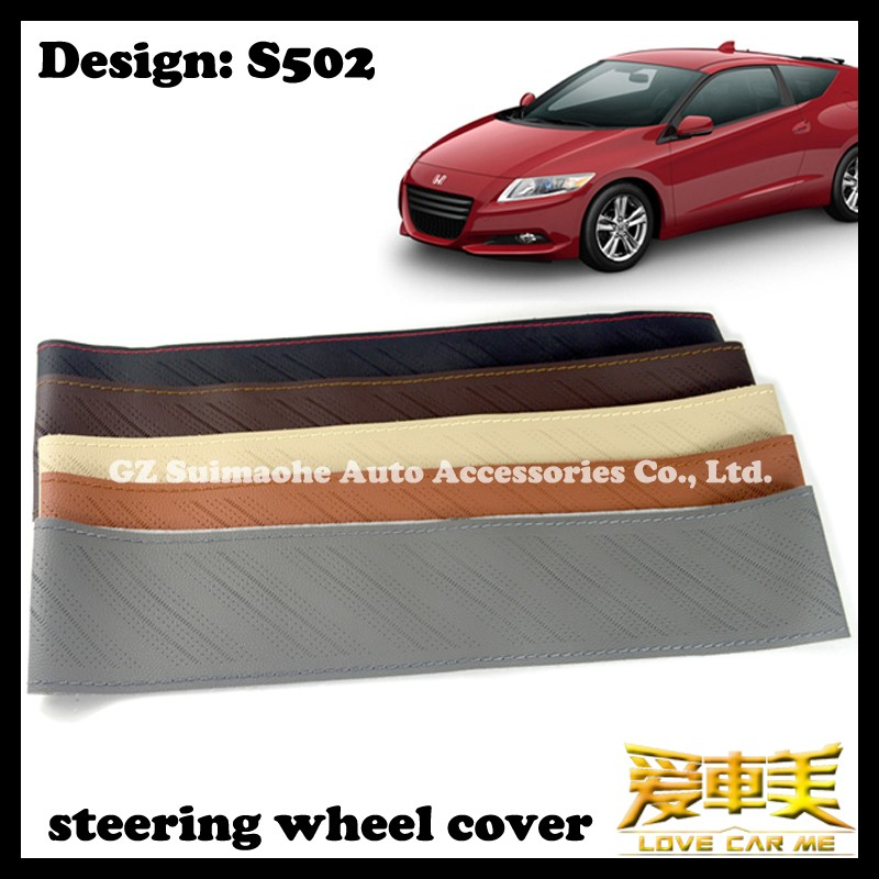 China retail sale premium PU leather hand sewing steering wheel cover factory supplier