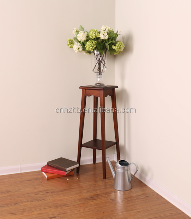 High quality hot selling wooden modern corner step plant stand