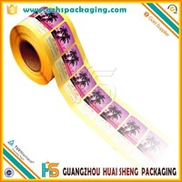 full color adhesive decorative sticker printing, customized decorative label sticker paper festival sticker roll