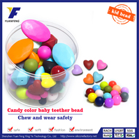 wholesale 8mm round plastic beads soft baby teething bead