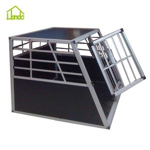 China Wholesale heavy duty aluminium dog cage kennel dog car cage