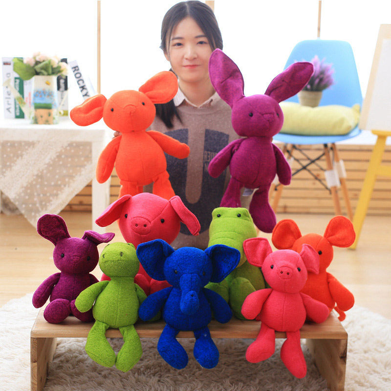Elephants,rabbits soothing dolls plush toys for children MT110873
