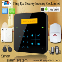 Easy to use touch screen 433/868 mhz GSM security door alarm system