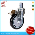 all size wheel,bore hole type shopping trolley PU cart wheel,caster wheels