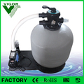 Popular fiberglass swimming pool sand filter with water pump, water filtration combo