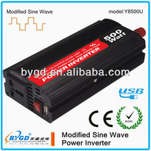 high quality!! 500W DC-AC modified sine wave mini car power inverter dc 12v ac 220v circuit diagram with USB output(Y8500)