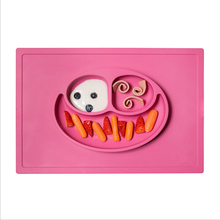 Factory Supply FDA food grade baby silicone placemat plate for <strong>kids</strong>
