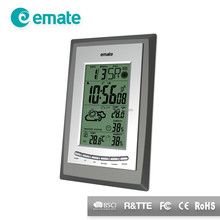 Weather forecast station calender clock with digital multi thermometer